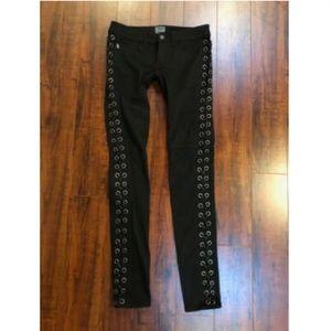 TRIPP Goth Lace Up Corset Steampunk Skinny Pants